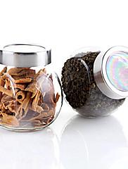200ml kuchyně sklo karafa skladování potravin uzavřené láhvi 8,5 * 8,5 * 6 cm