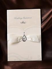 非個人化 ラップ式 結婚式の招待状 招待状カード-50 ピース/セット クラシック パール紙 18.4cm*12.8cm