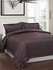 3-dílná moderní styl červené a šedé jacquard peřinu set