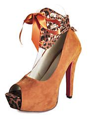 Platforma Stiletto Heel Peep-prsty se zvířetem grafiky strana / Večerní boty