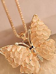 Vysoká kvalita Opal kámen Butterfly Dlouhý náhrdelník svetr řetězec