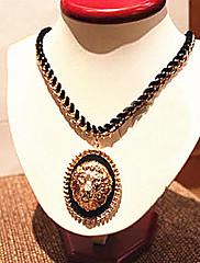 Retro Lví hlavy design s Velvet řetězec / náhrdelník