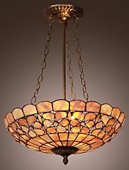Tiffany privjesak svjetlo s 3 svjetla - cvjetni uzorkom