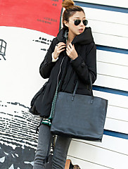 女性のショールカラー厚み特大綿のコート