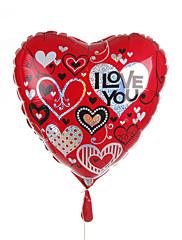 Corazón Globo Metálico - Youe están en mi corazón