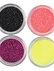 4 Barvy Laser Glitter Acrylic Powder sada pro 3D Nail Art č.4