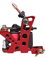 10 Wrap Dual Coils Long a Short Tattoo Machine pro Shader (Red)