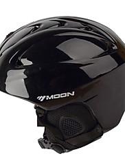 MOON® ヘルメット 女性用 / 男性用 スノースポーツヘルメット マウンテン / ハーフシェル スポーツヘルメット ブラック スノーヘルメット ABS樹脂 サイクリング / ロードバイク / スノースポーツ / スキー / スノーボード