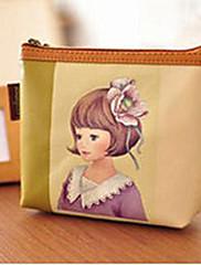 Retro Girl Green PU kůže Sladká Lolita Peněženka