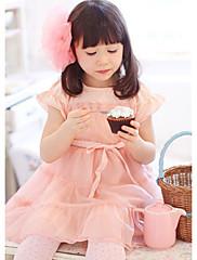 Dívčí Cupcake Lace Flower zdobené šaty