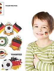 2ks Fotbal vzor Německo World Cup Vodotěsné tetování těla Dočasné Glitter Samolepky
