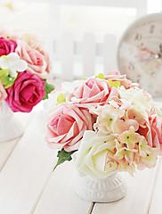 8 'h estilo de la boda arreglo floral (rojo)
