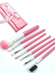7ks Eyeshadow Brusher Makeup Brush Set Kit S Roll Up Pink Bag Case 4239