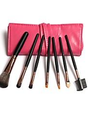 7ks make-up štětce umělých vlasů s Gorgeous Berry Leather Bag