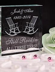 ケーキトッパー あり クリスタル 結婚式 / 記念日 / ブライダルシャワー / ベビーシャワー / 成人式 / 誕生日 ホワイト クラシックテーマ ギフトボックス