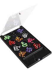 12-Color Rhombus drahokamu Nail Art Dekorace