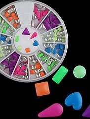 Fluorescenční Smíšené Rivet vzor Nail Art Dekorace