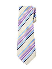 Pánské Barevné Inteligentní Stripe design Silk Tie Long