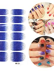 28PCS Glitter Gradient Ramp Nail Art Samolepky M Series NO.131
