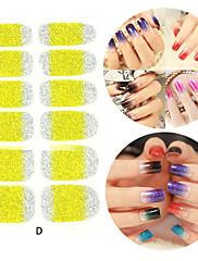 28pcs třpytky sklon rampy nail art nálepky d series