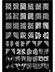 Tetragonum Nail Art Stamp Lisování Obrázek Šablona Plate Y série