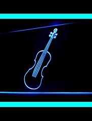 バイオリン音楽広告LEDライトサイン