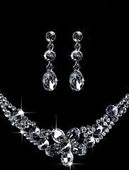 Belle parure de bijoux en cristaux