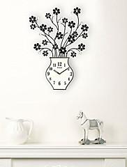 22「Hモダンなスタイルの花の花瓶デザインクォーツ壁掛け時計