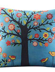 美しい木の綿/リネン装飾枕カバー