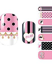 yemannvyou®14pcs karikatura krajky módní nail art samolepky