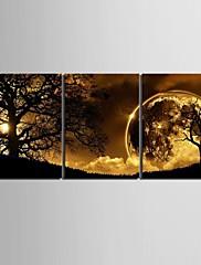 キャンバスセット 風景3枚 縦長 版画 壁の装飾 For ホームデコレーション