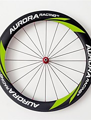 AURORA  700c Road Bike,Bicycle 60mm Depth 23mm Width Full Carbon Tubular Wheels,  R36 Hubs and Sapim CX-Ray Spokes