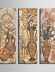 3セットの花の装飾の絵のキャンバスの芸術の古典的なボトル