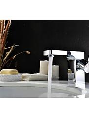 現代のクローム仕上げの真鍮単穴単一のハンドルの浴室のシンクの蛇口
