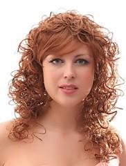 bez krytky mix barva extra dlouhá vysoce kvalitní přírodní kudrnaté vlasy syntetické paruka s bočním třesku
