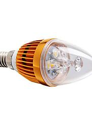 3W E14 LEDキャンドルライト 3 ハイパワーLED 270 lm 温白色 明るさ調整 交流220から240 V