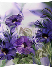4紫の花柄のベルベットの装飾枕カバーのセットtwopages®