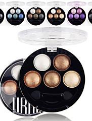 5 barev ubub profesionální pečenou 3v1 matný&lesk&třpyt kovové barvy oční stíny prášek kosmetické paleta