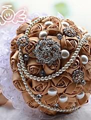 magnífico mano lujoso cristal rhinestone flor celebración ramo ramos de novia perla flor en el ojal (más colores)
