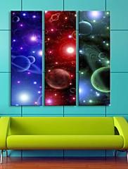 電子home®は、キャンバス3のプリントアート星空フラッシュ効果主導のセットを率い伸ばし