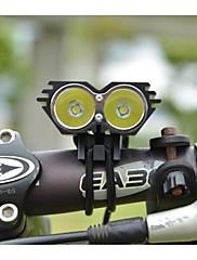 ls086クリー2×クリーXM-L U2は自転車自転車のライトヘッドランプ、フロントヘッドライトキット黒を主導