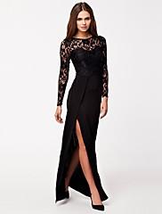 女性の花のレースのネットセクシーなロングイブニングドレス