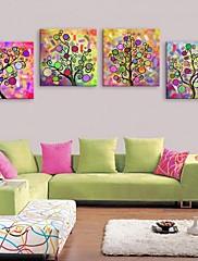 e-HOME® plátně umění abstraktní strom jasný výzdobě malířské sadu 4