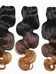 18inch 100% brazilské virigin vlasů ombre Muti barva těla vlna na vlasy