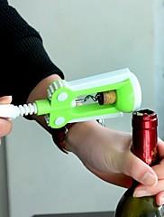 プラスチック製のワインボトルオープナー、プラスチック20×18.5×4.6センチメートル(7.9×7.3×1.9インチ)ランダムな色