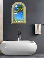 3D stěna nálepky na stěnu, přírodní krajiny koupelna dekorace nástěnná pvc samolepky na zeď