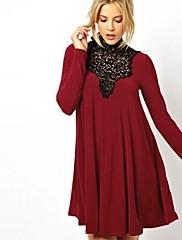 richcoco dámské šněrovací slučování výška krku šaty