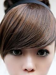 Novi posebni kose Hoop perika smeđa bang mijenjati lice