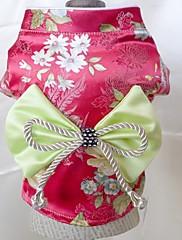 Pes Šaty Oblečení pro psy Svatba cosplay Puntíkované Výšivka Růžová Červená Zelená Světle modrá Tmavě fialová