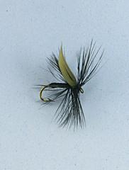 12PCS黒い蚊マス釣りフライサイズ#10